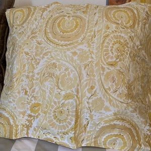 VINTAGE POTTERY BARN PAINTERLY PAISLEY PILLOW SHAM